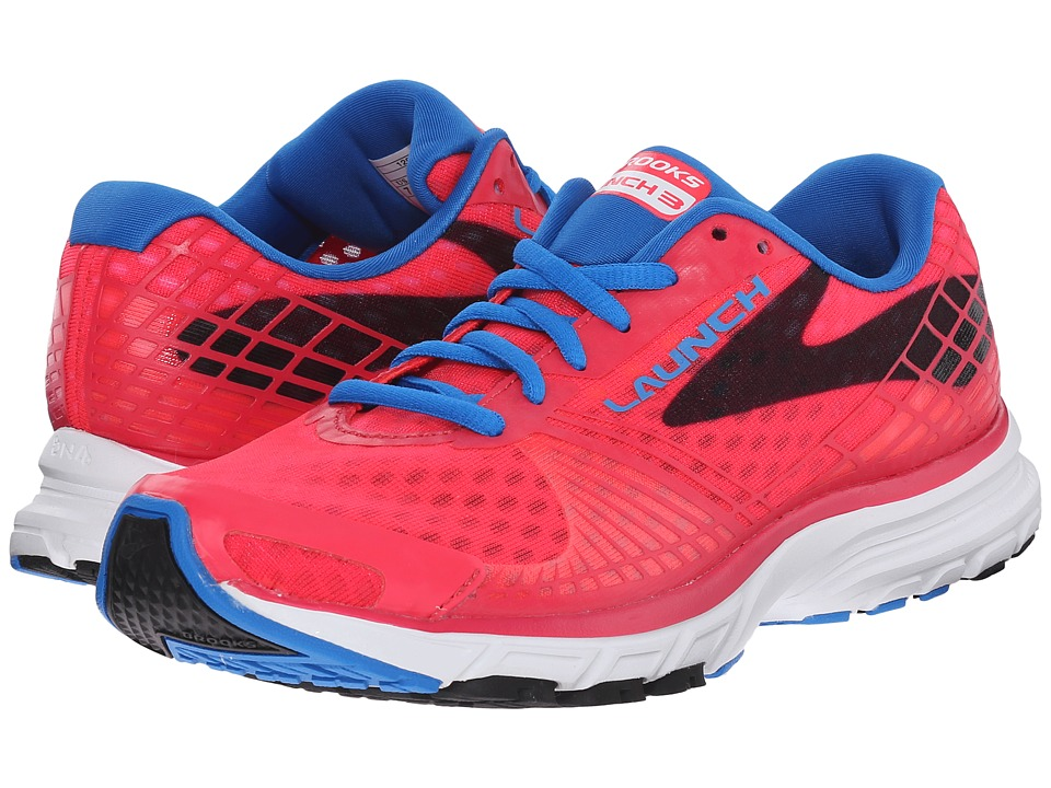 Brooks Launch 3 (Myla Pink/Electric Blue Lemonade/Black) Women