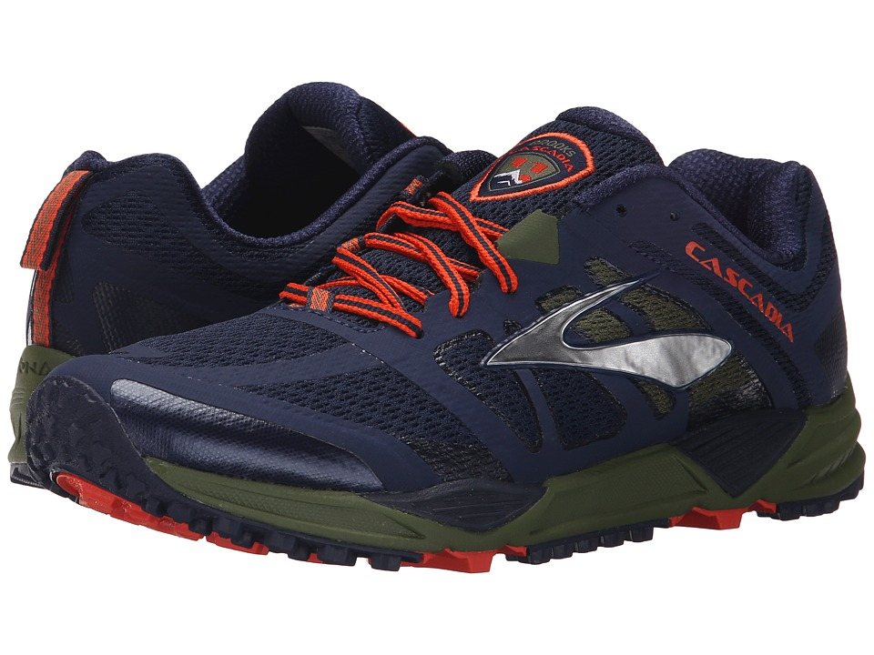 Brooks Cascadia 11 (Peacoat/Olive/Torch) Men