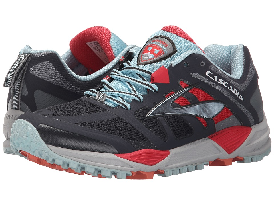 Brooks Cascadia 11 (Anthracite/Hibiscus/Crystal Blue) Women