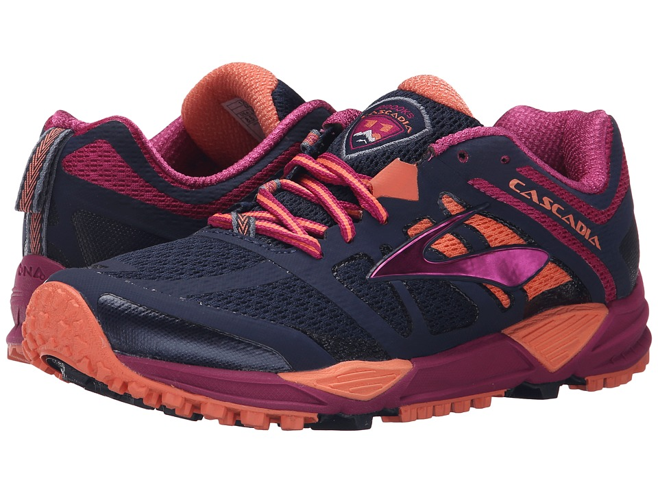Brooks Cascadia 11 (Peacoat/Baton Rouge/Fusion Coral) Women