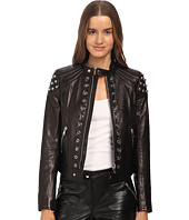 RED VALENTINO - Leather with Grommets and Sphere Moto Jacket