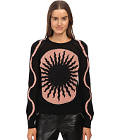 RED VALENTINO - Sun Embroidered Cotton and Mohair Yarn Sweater