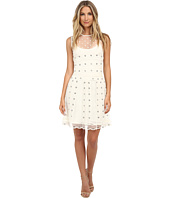 RED VALENTINO - Silk Organza Tulle w/ Eyelet and Polka Detail Dress