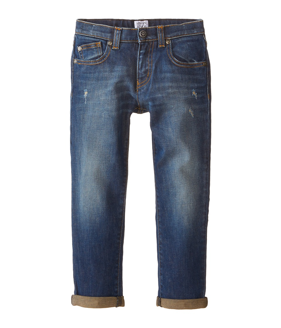 Armani Junior Light Wash Fashion Denim Toddler/Little Kids/Big Kids Denim Boys Jeans