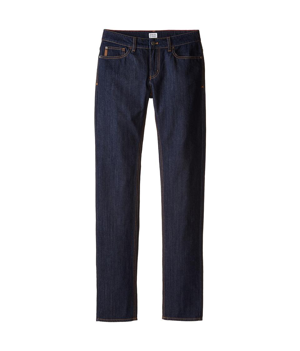 Armani Junior Basic Dark Wash Straight Leg Denim Big Kids Denim Boys Jeans
