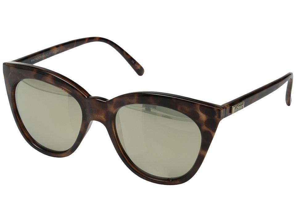 Le Specs Halfmoon Magic Tort/Gold Revo Mirror Fashion Sunglasses