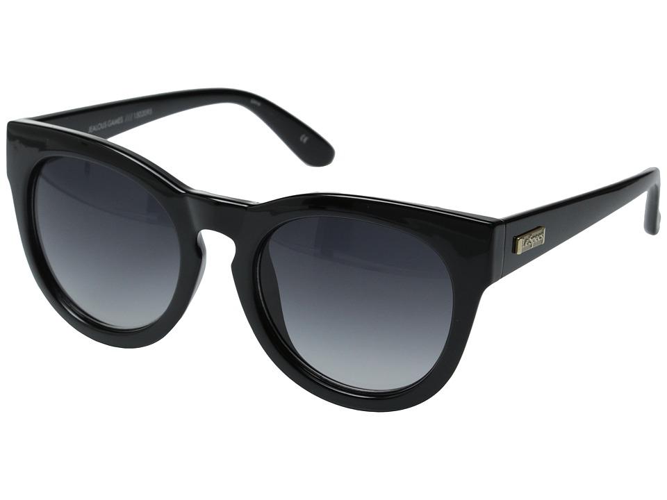 Le Specs Jealous Games Shiny Black/Smoke Grad Fashion Sunglasses