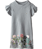 Armani Junior - Ruffle Sleeve Sweatshirt Dress w/ Floral Bottom (Big Kids)