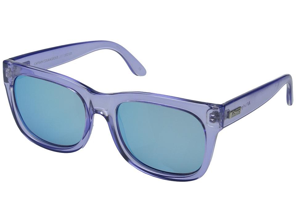Le Specs Captain Courageous Glacier/Ice Blue Revo Mirror Fashion Sunglasses