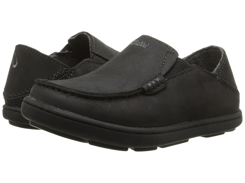 OluKai Kids Moloa Todder/Little Kid/Big Kid Black/Dark Shadow Boys Shoes