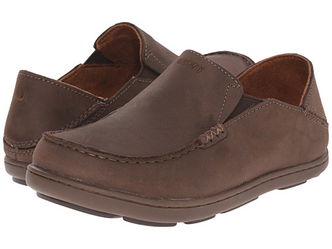 OluKai Kids Moloa (Todder/Little Kid/Big Kid) - Dark Wood/Mustang