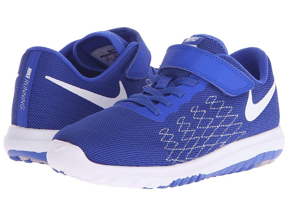 Nike Kids - Flex Fury 2 (Little Kid) (Racer Blue/Wolf Grey/Deep Royal Blue/White) Boys Shoes