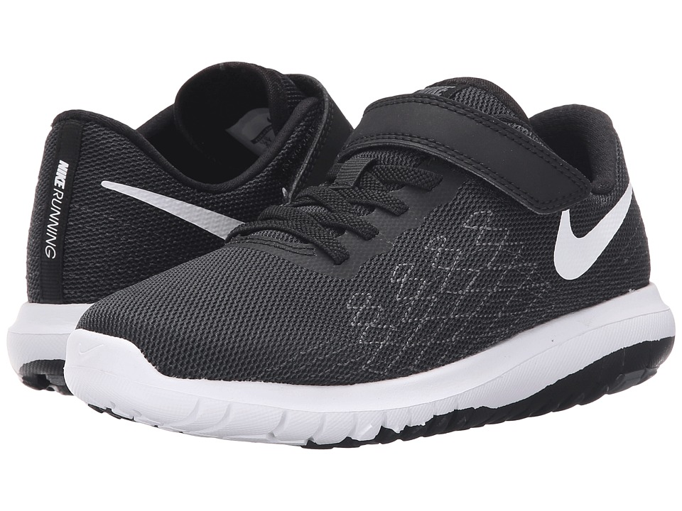 Nike Kids Flex Fury 2 (Little Kid) (Black/Dark Grey/Anthracite/White) Boys Shoes