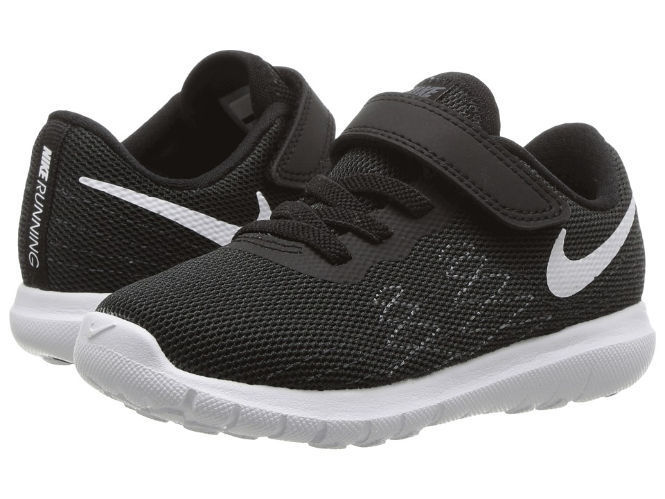 Nike Kids Flex Fury 2 (Infant/Toddler) (Black/Dark Grey/Anthracite/White) Boys Shoes