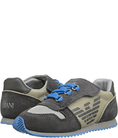 Armani Junior - Faux Tie Hook and Loop Sneaker (Toddler/Little Kid)