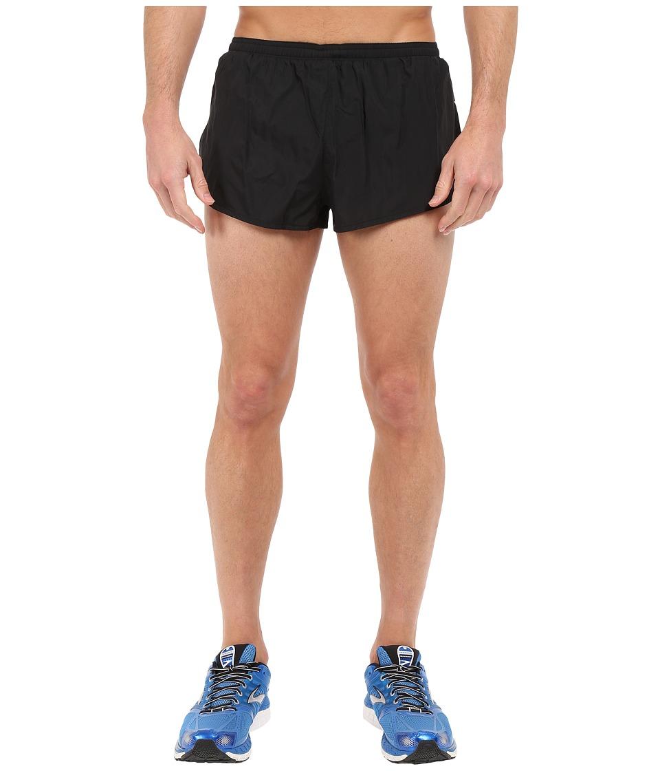 Brooks Sherpa 2 Split Shorts (Black) Men