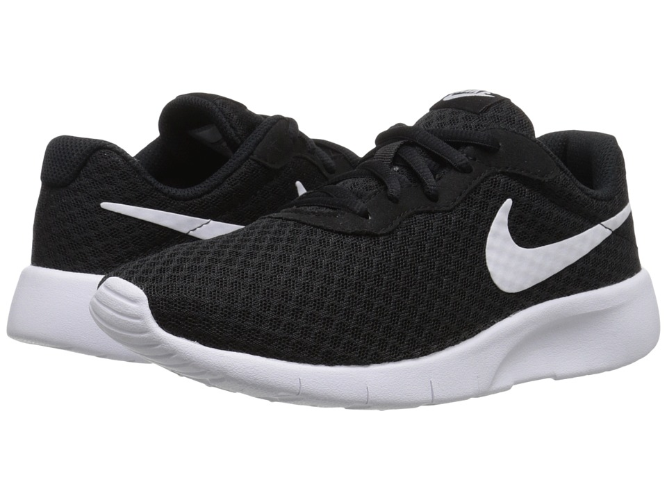 Nike Kids Tanjun (Big Kid) (Black/White/White) Boys Shoes