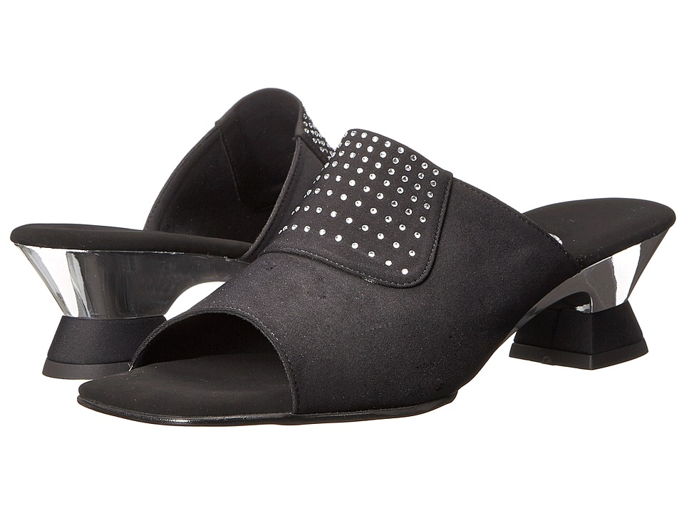 Onex - Lorry (Black Elastic) Womens 1-2 inch heel Shoes