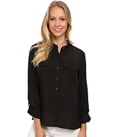 Anne Klein - Roll Sleeve Button Down Blouse