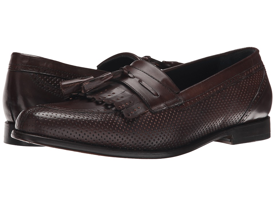 Messico Roman Brown Leather Mens Dress Flat Shoes