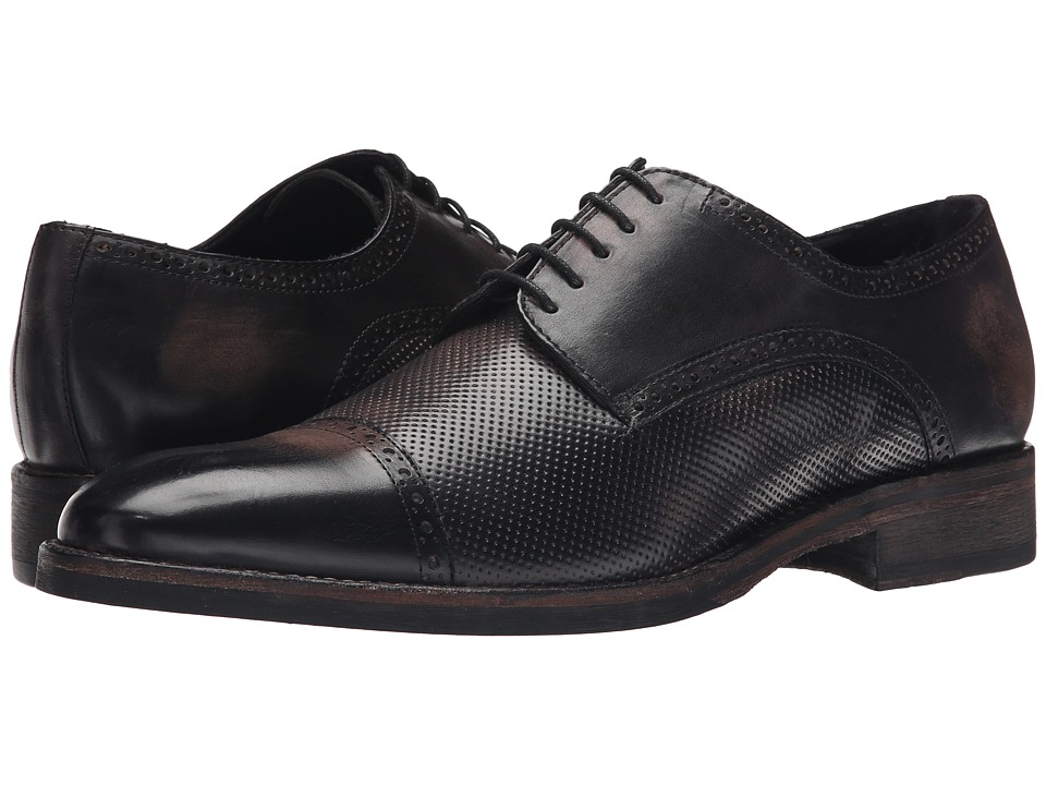 Messico Alan Black Vintage Leather Mens Shoes