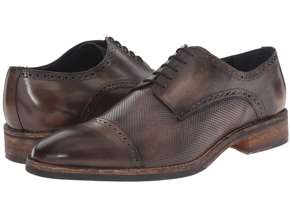Messico Alan Grey Vintage Leather Mens Shoes