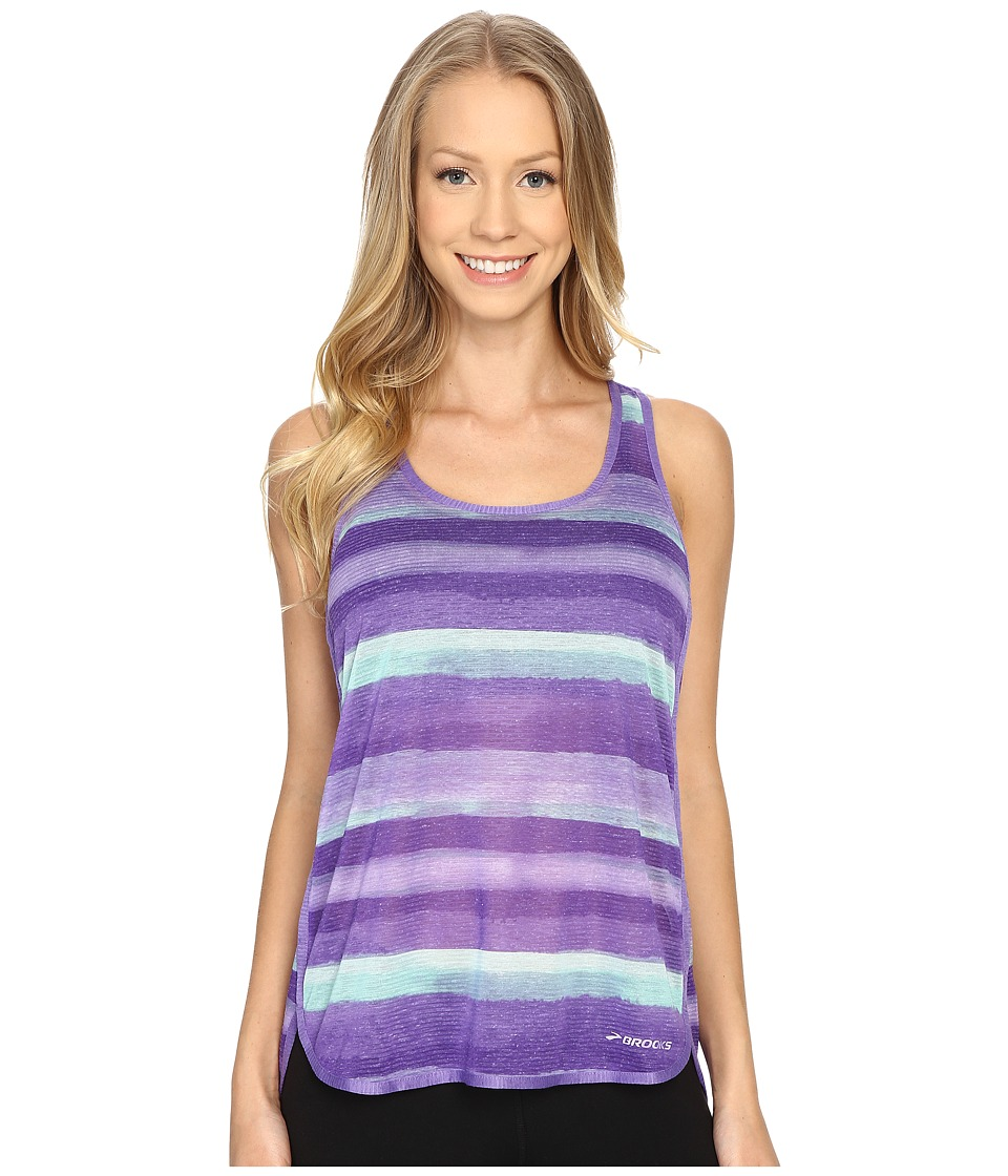 Brooks Ghost Racerback Top Dusk Scape Womens Sleeveless