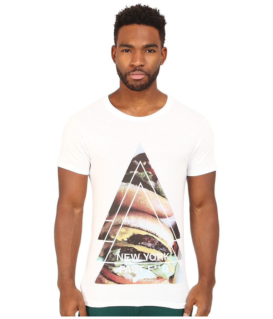 Eleven Paris York Tee White Mens T Shirt