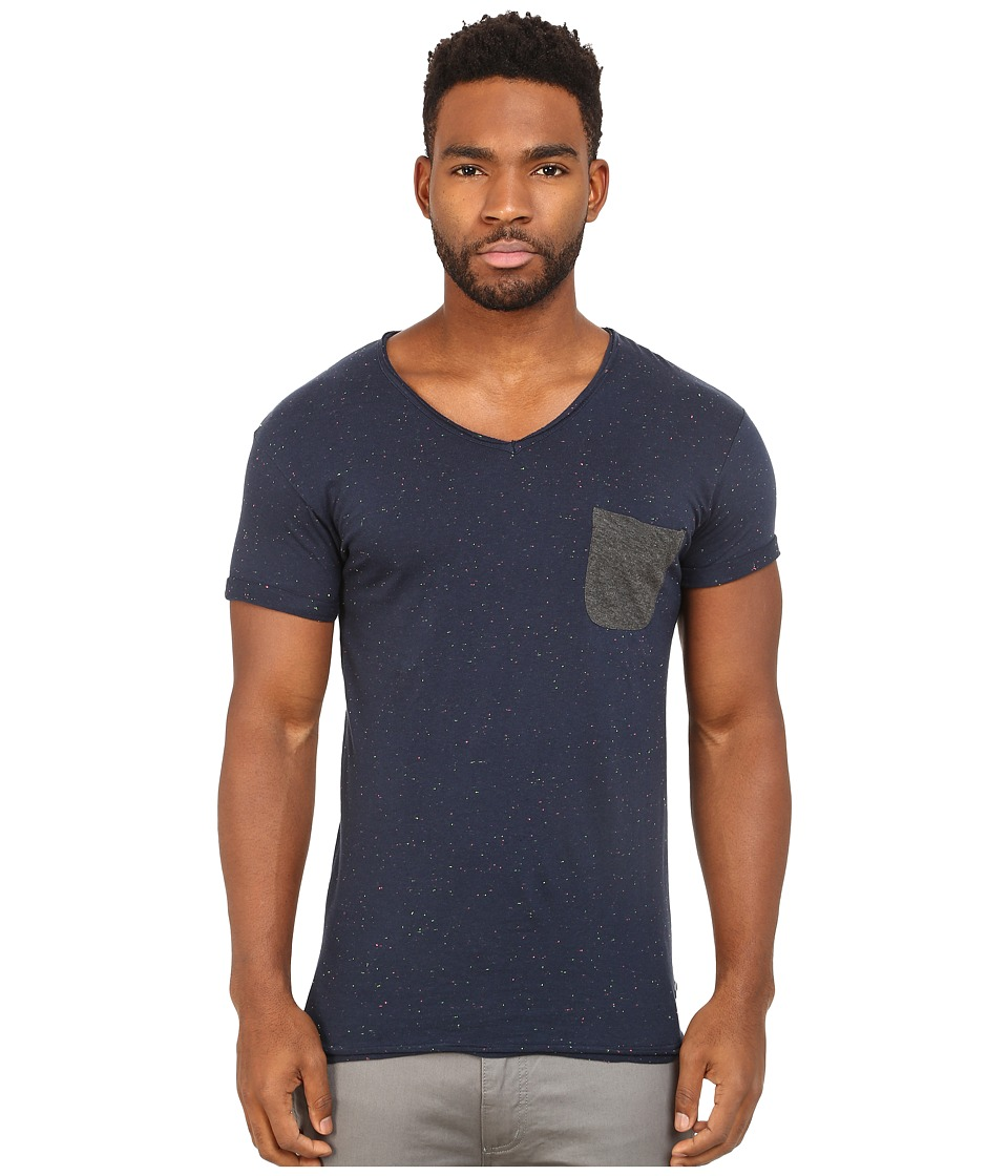 Eleven Paris Babico Tee Motteled Navy Mens T Shirt