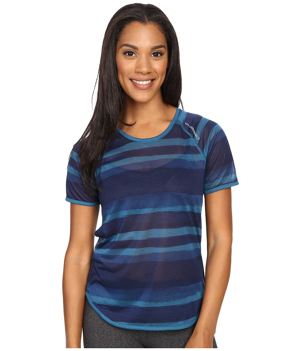 Brooks Ghost Short Sleeve Top River Scape Womens Short Sleeve Pullover