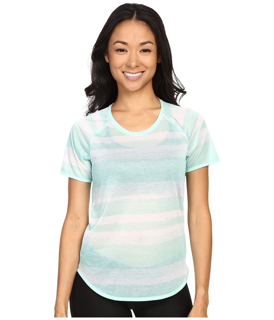 Brooks Ghost Short Sleeve Top Surf Scape Womens Short Sleeve Pullover
