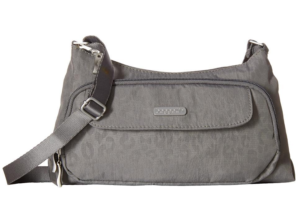 Baggallini - Everyday Bagg (Pewter/Cheetah) Cross Body Handbags