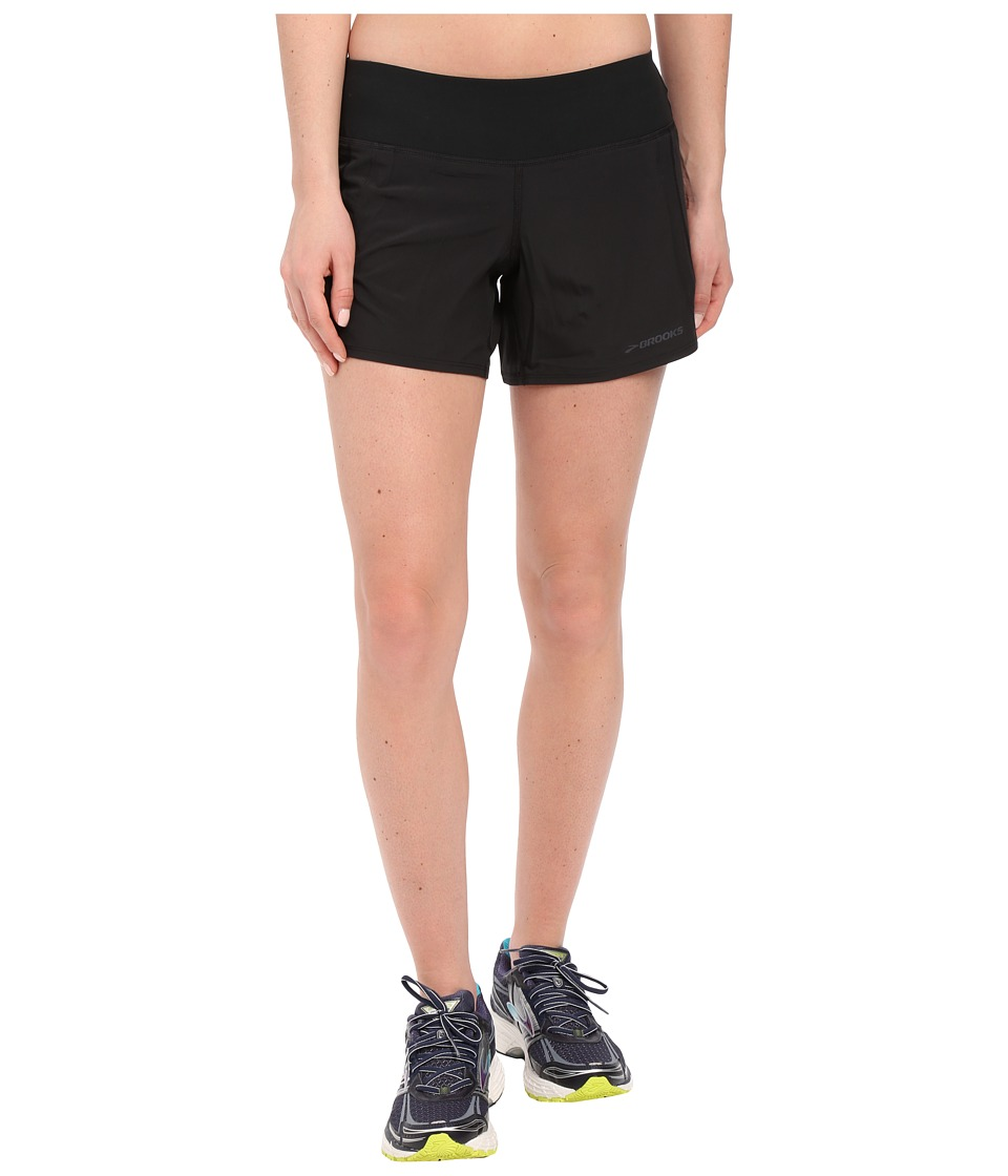 Brooks - Chaser 5 Shorts (Black) Womens Shorts