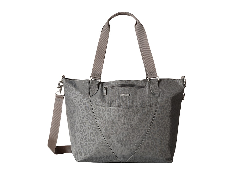 Baggallini Avenue Tote Pewter/Cheetah Tote Handbags