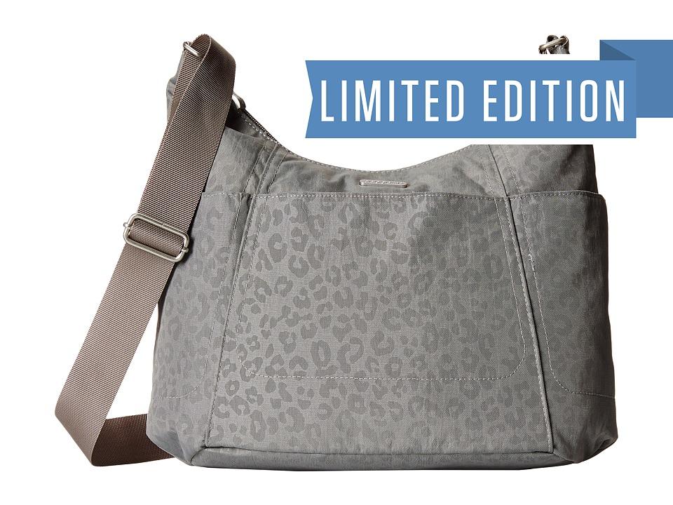 Baggallini - Hobo Tote (Pewter/Cheetah) Cross Body Handbags
