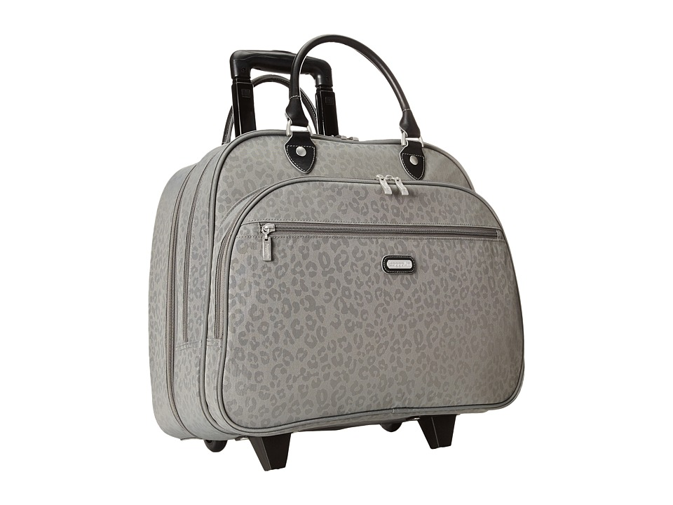 Baggallini Rolling Tote Pewter/Cheetah Weekender/Overnight Luggage