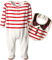 Junior Gaultier - Pastelle Striped Footie and Bib Gift Set (Infant/Toddler)