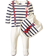 Junior Gaultier - Panouf Striped Footie and Bib Gift Set (Infant/Toddler)