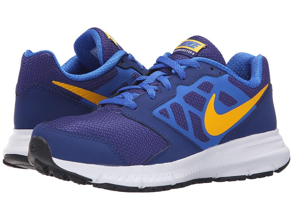 Nike Kids Downshifter 6 Little Kid/Big Kid Deep Royal Blue/Hyper Cobalt/White/Varsity Maize Boys Shoes