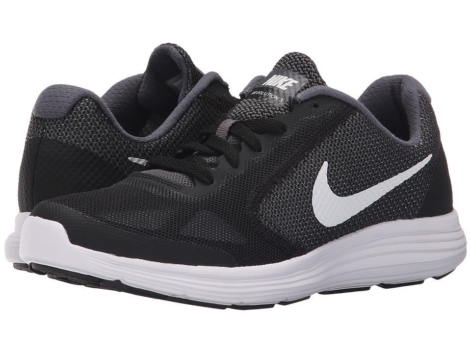 Nike Kids Revolution 3 (Big Kid) (Dark Grey/Black/Wolf Grey/White) Boys Shoes