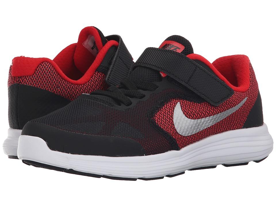 Nike Kids - Revolution 3 (Little Kid) (University Red/Bla...