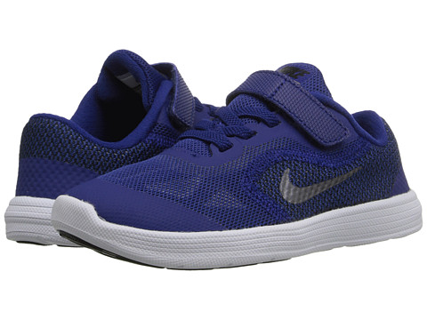Nike Kids Revolution 3 (Infant/Toddler) - Deep Royal Blue/Black/White/Metallic Cool Grey