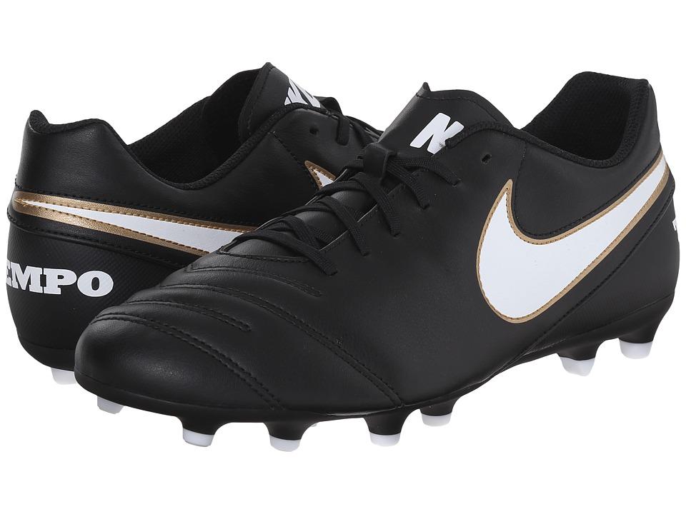 Nike Tiempo Rio III FG (Black/White) Men's Soccer Shoes