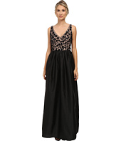 Adrianna Papell - Sleeveless Beaded Taffeta Gown