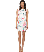 French Connection - Floral Reef Cotton Cap Sleeve Dress 71DPI