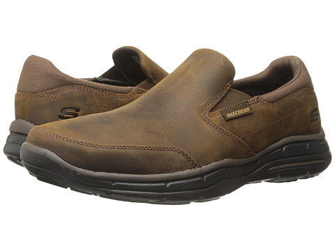 SKECHERS Relaxed Fit Glides Calculous - Dark Brown