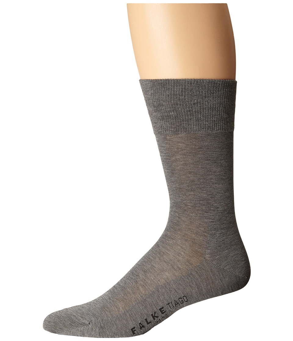 Falke - Tiago Crew Socks (Light Grey) Mens Low Cut Socks Shoes