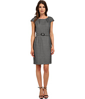 Nine West - Bonded Fishnet Belted Dress