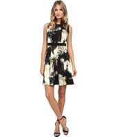 Nine West - Printed Scuba Sleeveless Fit and Flare Dress
