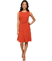 Nine West - Sleeveless Bi-Stretch Dress with Belt